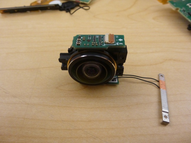 Side view of the optical / image sensor module in a compact package.